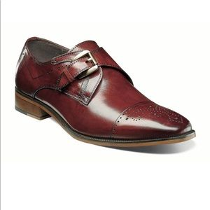 STACY ADAMS Kimball-Cap Toe Monk Strap Loafer, 12